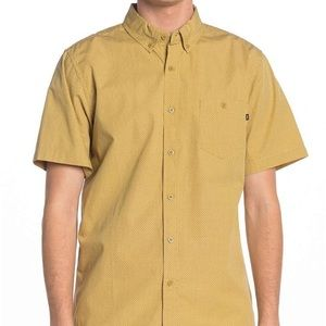 Obey dotted short sleeve button up shirt